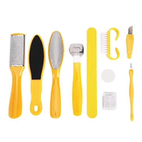 SDENSHI PEDICURE SET 10pc Foot File Kit Scraper Nails Feet Care Tools For Women Callus