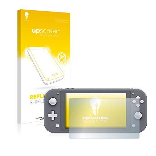 upscreen Entspiegelungs-Schutzfolie kompatibel mit Nintendo Switch Lite – Anti-Reflex Displayschutz-Folie Matt