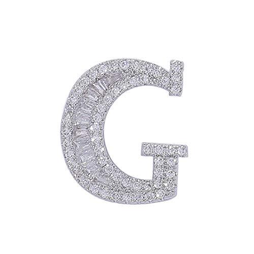 HUAHUA Insignia de Collar de 26 Letras de Cristal de la Carta del Collar de la Carta G