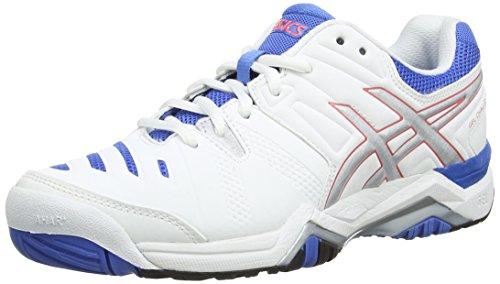 ASICS Gel-Challenger 10, Damen Tennisschuhe, Weiß (White/Silver/Powder Blue 193), 39.5 EU