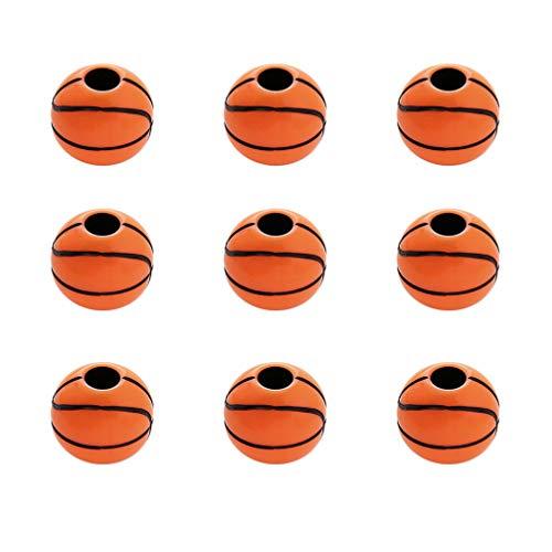 Healifty 50 stücke Charme perlen acryl Basketball perlen Armband Charme anhänger Halskette zubehör für DIY Handwerk schmuck Machen 12mm (orange)