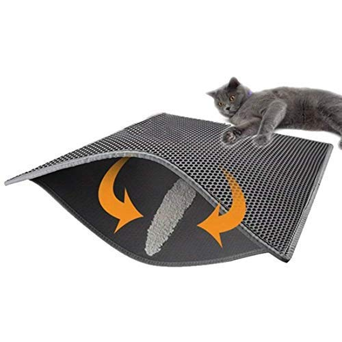 FXxswey Cat Litter Pad, Doble Capa Impermeable Alfombrilla