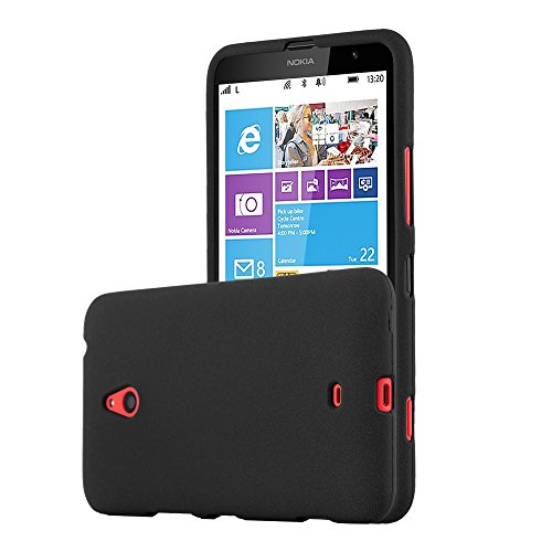 Cadorabo Custodia per Nokia Lumia 1320 in Frost Nero - Morbida Cover Protettiva Sottile di Silicone TPU con Bordo Protezione - Ultra Slim Case Antiurto Gel Back Bumper Guscio