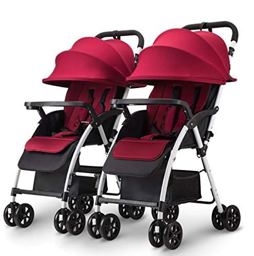 Poussettes Chariot de bébé détachable jumeau Peut s'asseoir et Se Coucher léger Double Chariot Pliable