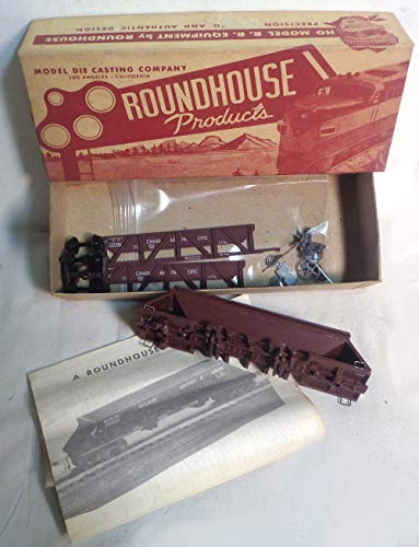 Vintage HO Scale Sand & Gravel Hopper Car Train Kit - Canadian Pacific Partially Built - Very Rare