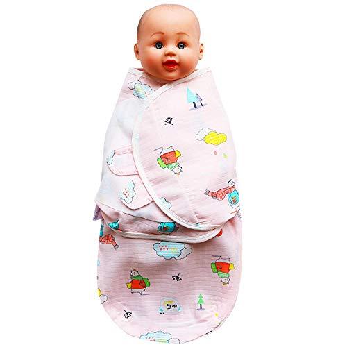 Bébé Sac de Couchage d'hiver,Serviette enveloppante en Gaze Anti-Choc pour bébé,Sac de Couchage pour bébé Nouveau-né câlin Rose B_S,Gigoteuse Bio Bébé en Coton