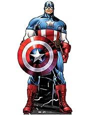 La vida de tamaño de stand-up (de tamaño natural figura de cartón) Marvel Avengers Captain America