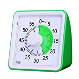 60 Minute Visual Analog TimerSilent Timer Time Management Tool for Classroom or Meeting Countdown Clock for Kids and Adults Green