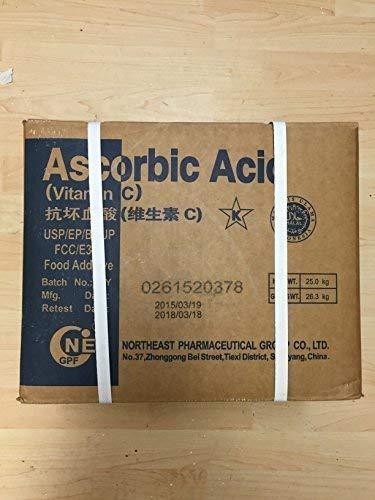25 kg Vitamin C askorbinsyra E300, livsmedelsklassad, stärker immunsystemet