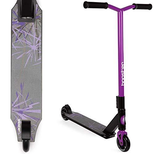 Bopster Trottinette Sportive Freestyle Stunt légère Rotation 360 degrés à Guidon Large - Violet