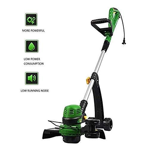 Tondeuse, Tondeuse à main électrique Herbe libre Rotatif télescopique légère étrille Tree pelouse le jardinage (800W, ligne de coupe 30 m)