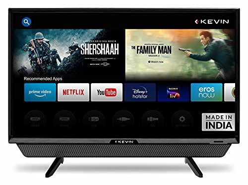 Kevin 60 cm (24 Inches) HD Ready Smart LED TV KN24PRO (Black) (2021 Model) | With Inbuilt Soundbar