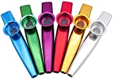 6 PZ Metallo Kazoo Strumenti Musicali Multipack Kazoo Set per Bambini Regalo Strumentale A...