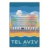 ASFGH Tel Aviv-Yafo Israel Vintage Reise Poster Dekor