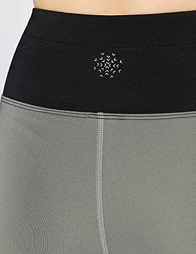 AURIQUE BAL1042 Yoga Leggings, Black (Black/Sage/Sharp Green), 12