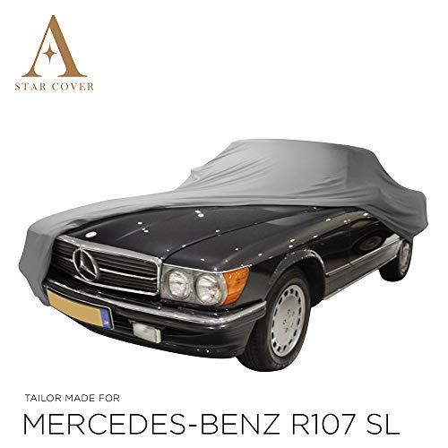 Star Cover AUTOABDECKUNG GRAU Mercedes-Benz R107 SL SCHUTZHÜLLE ABDECKPLANE SCHUTZDECKE
