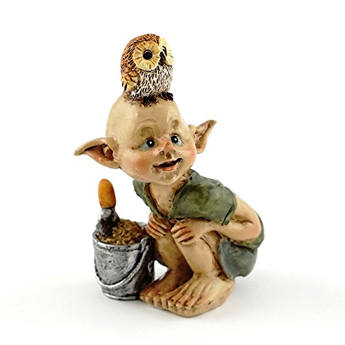 Top Collection Miniature Fairy & Terrarium Garden Pixie Gardening Statue with Shovel & Bucket, Small