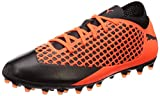 Puma Unisex-Kinder Future 2.4 MG JR Fußballschuhe, Schwarz Black-Shocking Orange 02, 37 EU