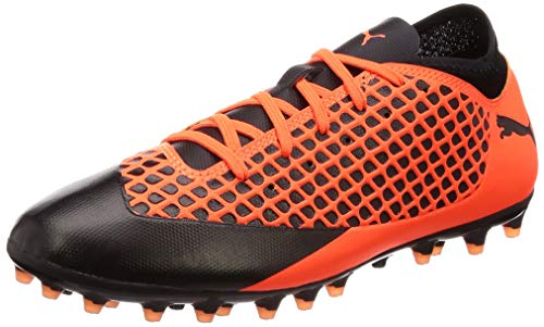 Puma Unisex-Kinder Future 2.4 MG JR Fußballschuhe, Schwarz Black-Shocking Orange 02, 36 EU