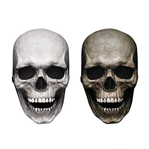 NMSL Mascara de Halloween-Decoración de Máscara Calavera de Cabeza Completa Boca Moviblepara Fiestas de Disfraces de Halloween,Regalo Gótico, Carnavales, Navidad, Pascua.