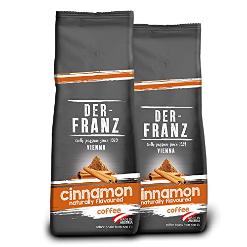 DER-FRANZ - Café aromatizado con canela natural, molido, 500 g (paquete de 2)