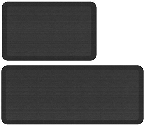 NewLife by GelPro Designer Comfort Mat Bundle - Buy More Save More!, 20 x 32 and 20 x 48, Charcoal
