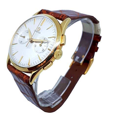 Reloj de hombre con cronógrafo, movimiento mecánico Omega