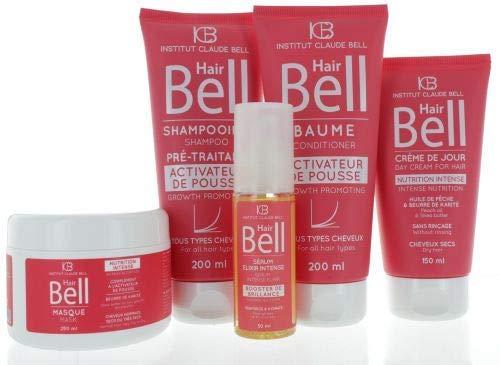 HairBell Shampoo + Conditioner + Maske + HairCream + Serum pink edition Haarwachstum beschleunigen HairJazz