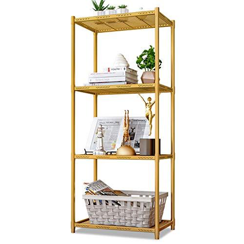 Socly Küchenregal Lagerregal Regal Badezimmerregal Platzsparend Moderne Haushaltsregal,Gold