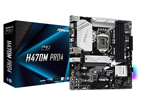 ASRock Intel 第10世代CPU(LGA1200)対応 H470チップセット搭載 Micro ATXマザーボード 【国内正規代理店品】 H470M Pro4