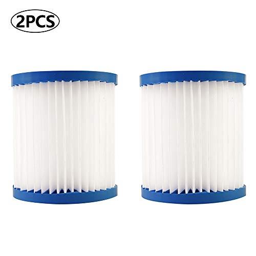RASHION Summer Waves Pool Papie filterkartuschen Kartuschenfilter Papier für Filterpumpensysteme mit 300/330 gal/h(2 PCS)