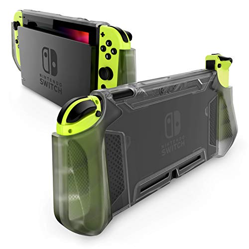 Mumba Dockable Case Compatible for Nintendo Switch, [Blade Series] TPU Grip Protective Cover Case with Ergonomic Design and Comfort Grip (FrostBlack)