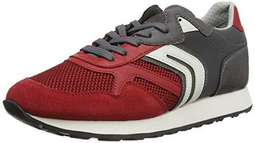Geox Herren U Vincit A Sneaker, RED/Grey, 43 EU