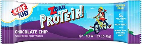 CLIF KID ZBAR - Protein Granola Bars - Chocolate Chip - Non-GMO - Organic -Lunch Box Snacks (1.27 Ounce Energy Bars, 10 Count)