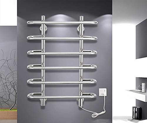 ZXCV Toallero Electrico Smart Toally Rack Bathroom Hardware Rack Toalla De Baño Pendiente Colgante De Acero Inoxidable Radiador Cableado con Cableado Y Enchufe Plug and Play