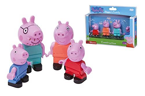 Big 800057113 Juego de Figuras Bloxx Peppa Pig Family