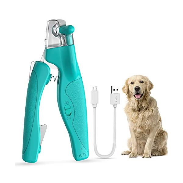 AIIYME LED Light Pet Nail Clippers, Professional Pet Trimmer Dog Cat Pet Nail Clippers...