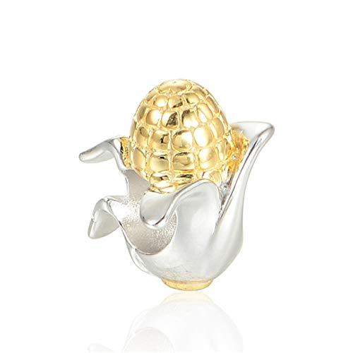 EVESCITY - Abalorio de plata de ley 925 con varios estilos para pulseras de abalorios, el mejor regalo de joyería para ella ♥