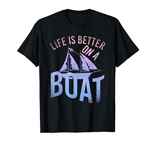 Barca A Vela Capitano Skipper Marinaio Divertente Vela Maglietta