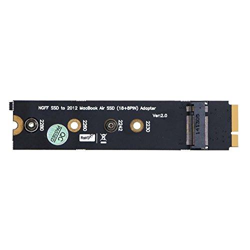 prettygood7 Adapter Kaart, Gegevensoverdracht en Opladen Extender Kabel Riser Adapter M.2 NGFF SSD naar 18+8pin SSD Adapter Kaart voor MacBook Air 2012 A1465 A1466