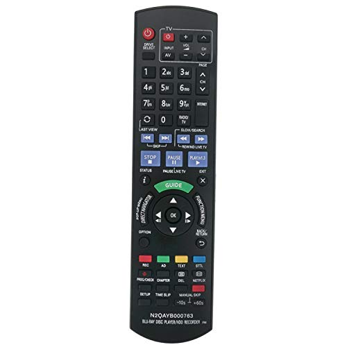 VINABTY N2QAYB000763 - Mando a distancia compatible con Panasonic DMR-PWT420EB Diga dmr-pwt520 reproductor de discos Blu-ray y grabadora de discos duros