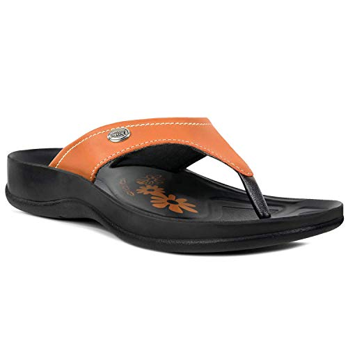 Aerosoft Arch Support Comfort Sandals for Women (US 07, Zeus - Tan)