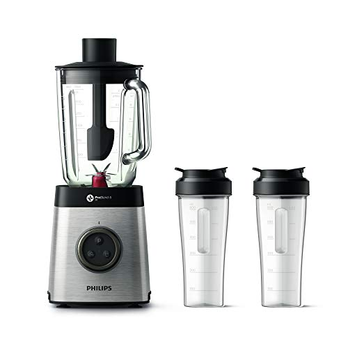 Philips HR3655/00 Blender Avance Collection 1400 W, Bol en Tritan, 2 gourdes, Technologie ProBlend 3D