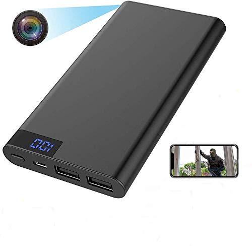 Cámara espía Oculta WiFi 1080P - 4K Mini DVRealTime Video HD PowerBank Cámara Visión Nocturna Activación móvil Cámara de vigilancia Banco de energía Digital portátil