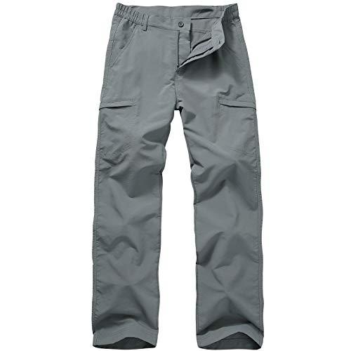 Toomett Men-Golf-Fishing-Hiking Pants Quick Dry Lightweight Outdoor Travel Safari Ripstop Cargo Pants,6888,Dark Grey,34