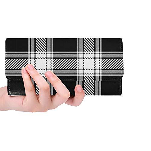 Einzigartige benutzerdefinierte Karierten Holzfäller Buffalo Check Frauen Trifold Wallet Lange Geldbörse Kreditkarteninhaber Fall Handtasche
