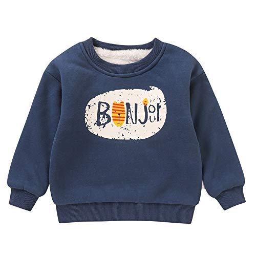 DaMohony Pullover Sweatshirt Rundhals Sweatshirt Fleece Pullover Kapuze Kleinkind Pullover