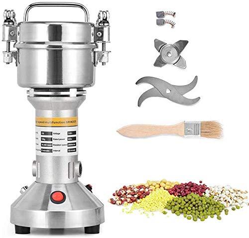 ETE ETMATE Máquina de molienda de granos de cereales eléctrica 220V 28000RPM Máquina de polvo de molinillo de acero inoxidable de 3 cuchillas Molino eléctrico para café de hierbas con especias