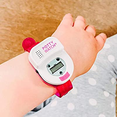 Potty Time: The Original Potty Watch | Newly Improved 2020 ~ Water Resistant | Toddler Toilet Training Aid, Warranty Included (Automatic Timers with Music for Gentle Reminders) (Pink) by Potty Time, Inc