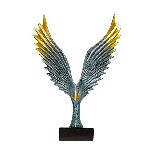 XJJZS Estatuas Estatua Resina Eagle Grand Exhibition Company Decoración de Escritorio Casa Interior Artesanía